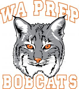 WA Prep Bobcat Mascot Logo